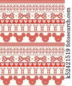 Frohe Weihnachten Norwegisch.Seamless Skandinavisch Gewebe Stil Inspiriert Per Norwegische