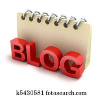 Blog and notepad 3D icon