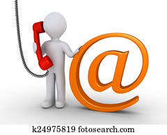 Communicate with us by e-mail or telephone