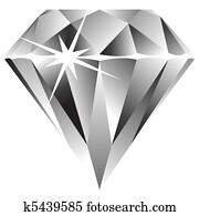 diamond against white