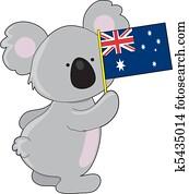 Koala Australian Flag