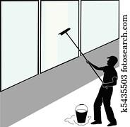 Large window washer