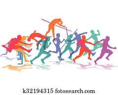 Leichtathletik Sport