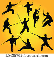 Martial arts group poses
