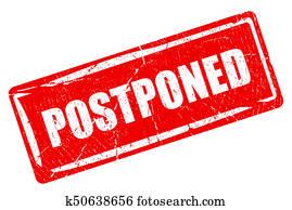 Postponed rectangular rubber stamp