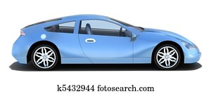 Sport car - left side view