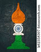 Chess knight figure. Indian flag