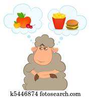 illustration of cartoon sheep