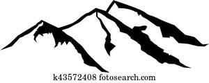 Three mountains shape
