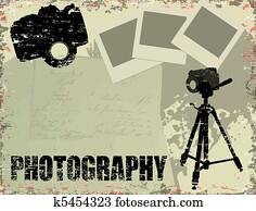 altmodisch, photographie, plakat