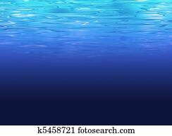 Deep sea background - clear water