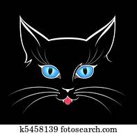 image of cat eyes in darkness