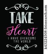 Take Heart I have Overcome the World