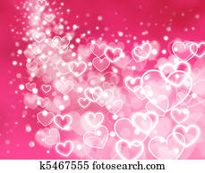 abstract pink background - hearts