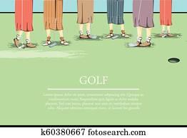 females golfer feets on golf course