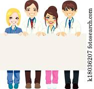 medizinische, gesellschaft, werbewand