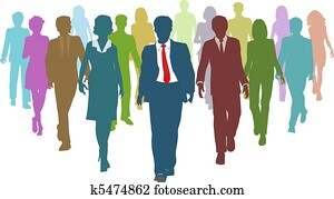 Business people diverse human resources team leader