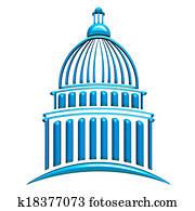 Capitol Building Blue