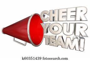Cheer Your Team Motivate Encourage Bullhorn Megaphone 3d Illustration