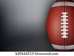 Dark Background of American Football ball.