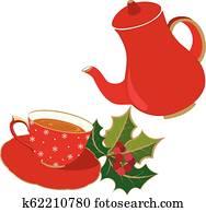 Holidays Tea Party invitation