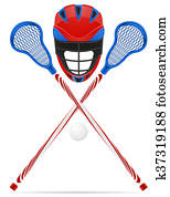 lacrosse equipment illustration
