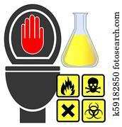 No hazardous materials down the toilet