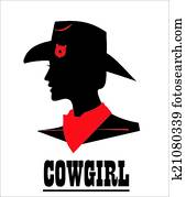 Cowgirl, sweet and beautiful