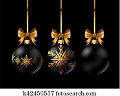 Weihnachtsdeko Kugeln Groß.Schön Monochrom Schwarz Weiß Weihnachten Hintergrund Mit