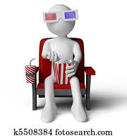 3D human sitting on a armchair