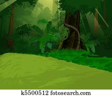 Artistic jungle background