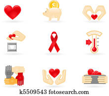 Donation and charity icons