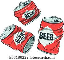Beer Cans on White