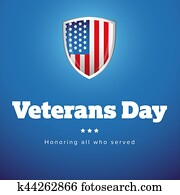Veterans Day USA banner