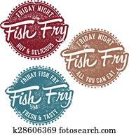 Vintage Fish Fry Stamp