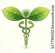 Natural medical symbol logo