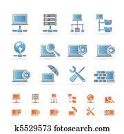 network,, server, und, hosting, heiligenbilder