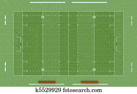 top view of a rugby field