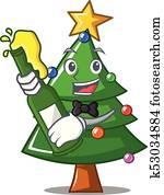 bierkrug mit weihnachtsbaum clip art fm01h016 fotosearch. Black Bedroom Furniture Sets. Home Design Ideas