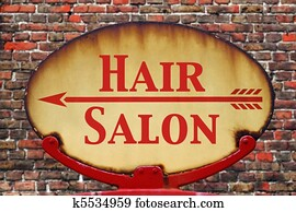 Retro sign Hair salon