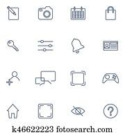 satz, mit, 16, heiligenbilder, für, beweglich, app, stellen, beweglich, software