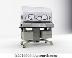 incubator isolated on white background