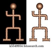 Plumber Plumbing Copper Steel Pipes