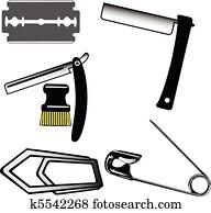 Shaving tools vector