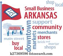 Small Business Arkansas, Flag