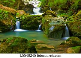 Waterfall in green nature