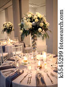Wedding Centerpiece and Reception