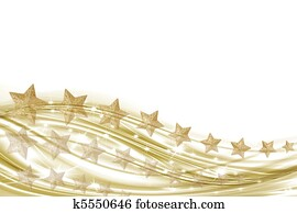 Background white and gold with gold