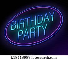 Birthday party concept.