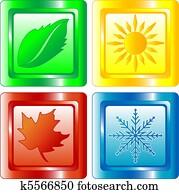 Four seasons web button